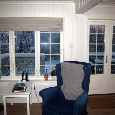 Kobla Solfjeldvindu med harmonerende verandadør