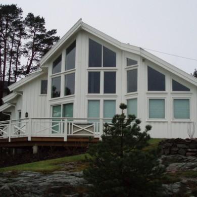 Vindus-fasade med isolerglass